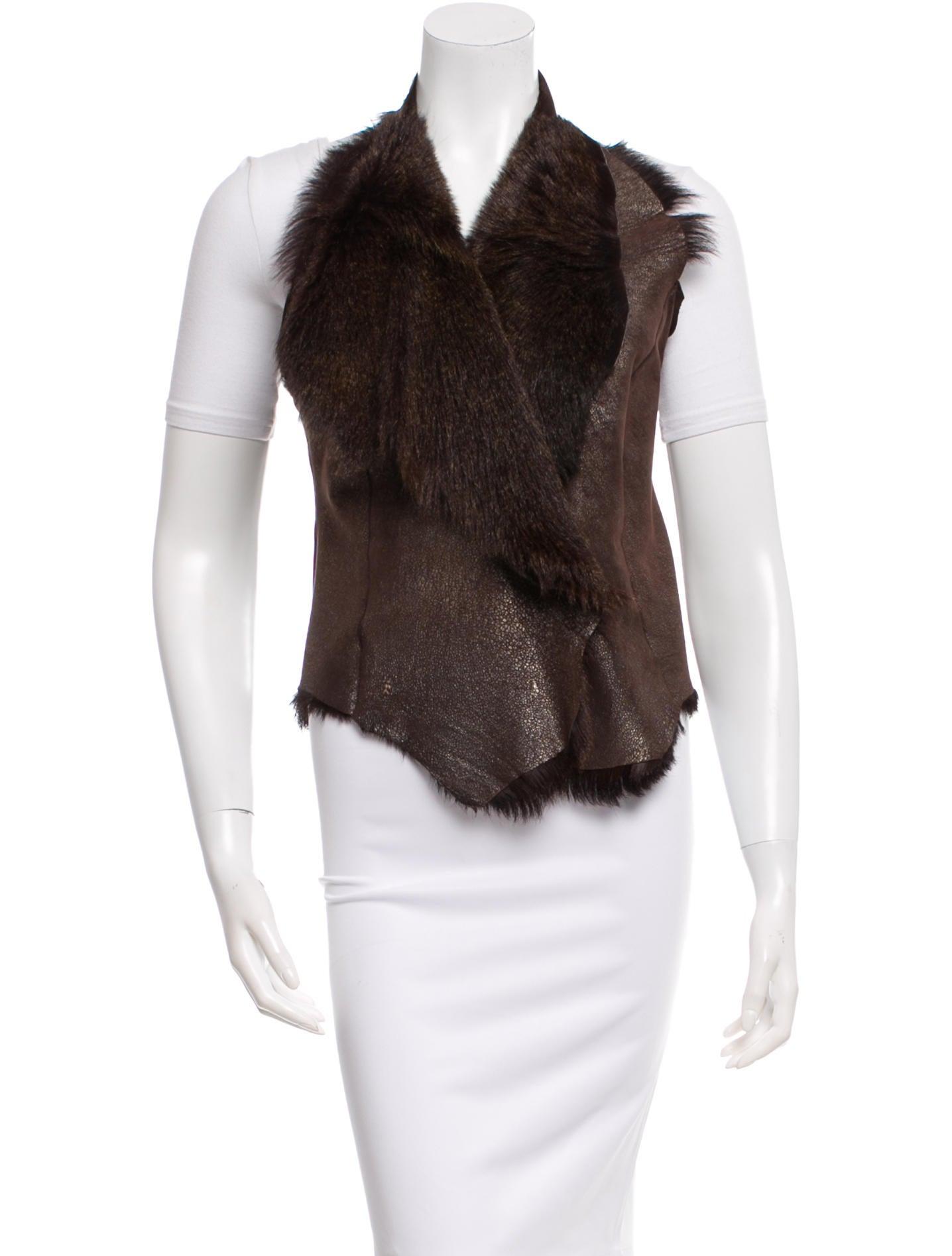 Henry Beguelin Fur Lined Halter Vest Clothing Hen20860