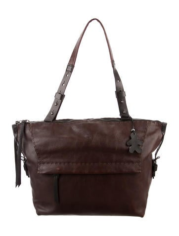 Henry Beguelin Two-Tone Leather Shoulder Bag None