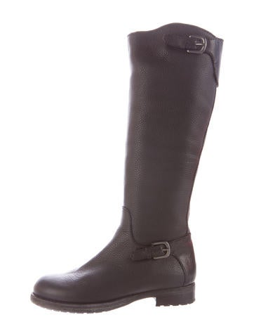 Shearling Lined Round-Toe Boots