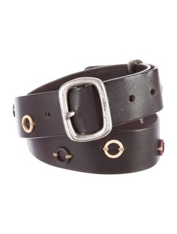Henry Beguelin Embellished Leather Belt None