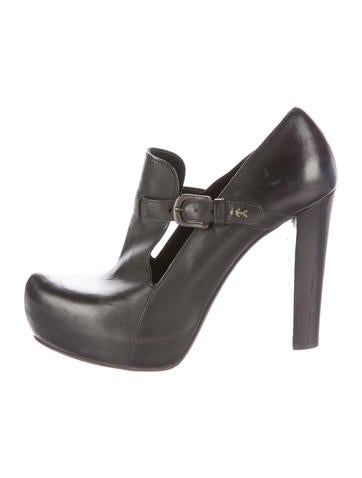 Henry Beguelin Leather Platform Booties None