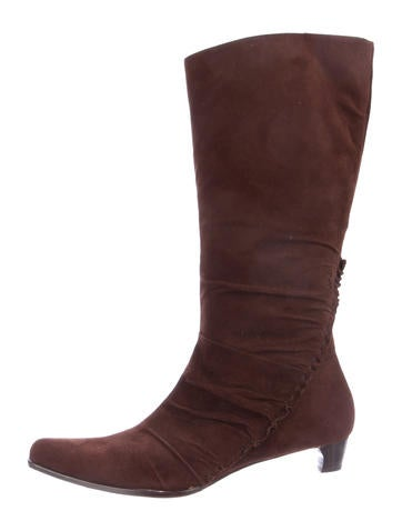 Henry Beguelin Suede Pointed-Toe Boots None