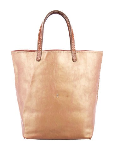 Henry Beguelin Iridescent Leather Handle Bag None