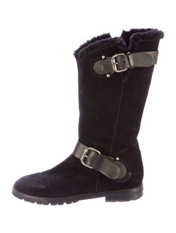 Henry Beguelin Shearling Mid-Calf Boots