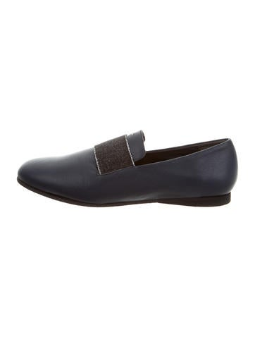 Henry Beguelin Leather Round-Toe Loafers None