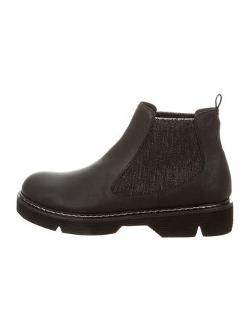Henry Beguelin Leather Chelsea Booties None