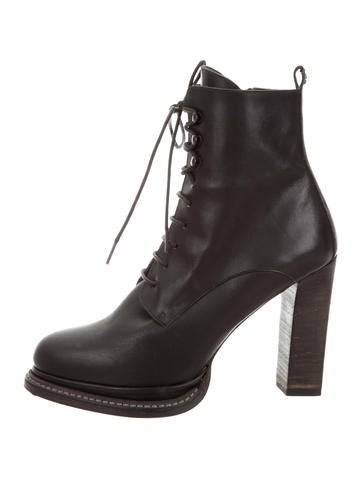 Henry Beguelin Lace-Up Granny Ankle Boots None