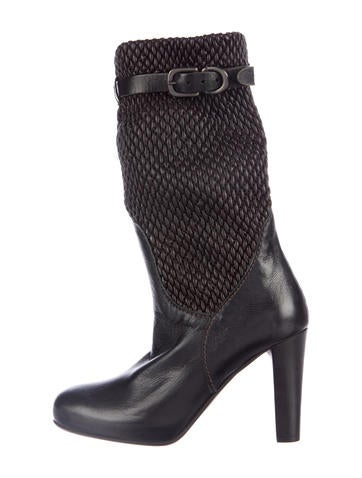 Henry Beguelin Woven Leather Mid-Calf Boots None