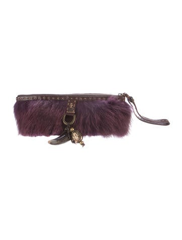 Henry Beguelin Leather-Trimmed Fur Wristlet None