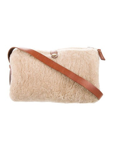 Henry Beguelin Shearling & Leather Shoulder Bag None