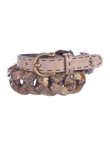 Henry Beguelin Glazed Leather Belt None