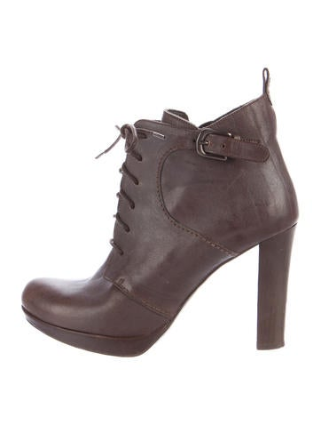 Henry Beguelin Leather Lace-Up Booties None