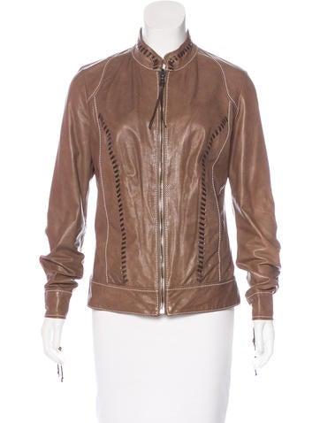 Henry Beguelin Leather Biker Jacket None