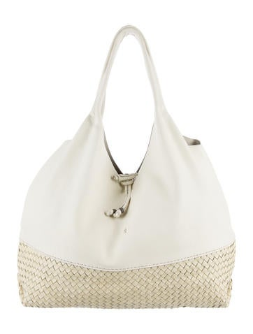 Henry Beguelin Canotta Woven Leather Hobo None