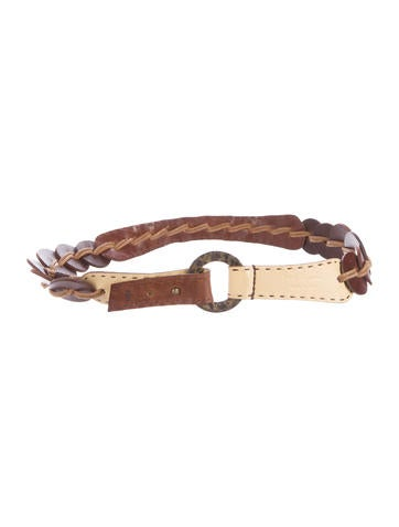 Henry Beguelin Leather Woven Belt None