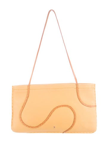 Henry Beguelin Grained Leather Shoulder Bag None