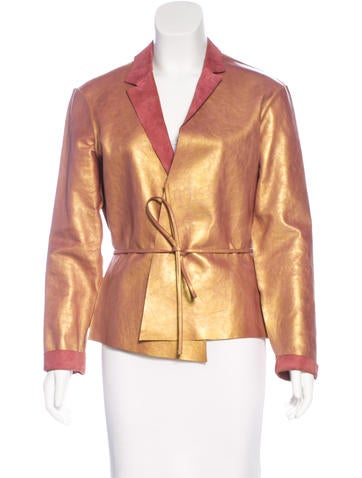 Henry Beguelin Leather Iridescent Jacket None