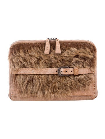 Henry Beguelin Shearling-Trimmed Clutch None