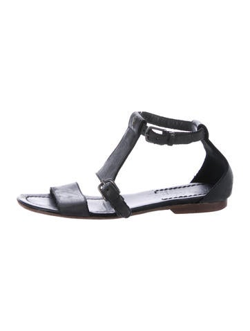 Henry Beguelin Leather Ankle Strap Sandals None