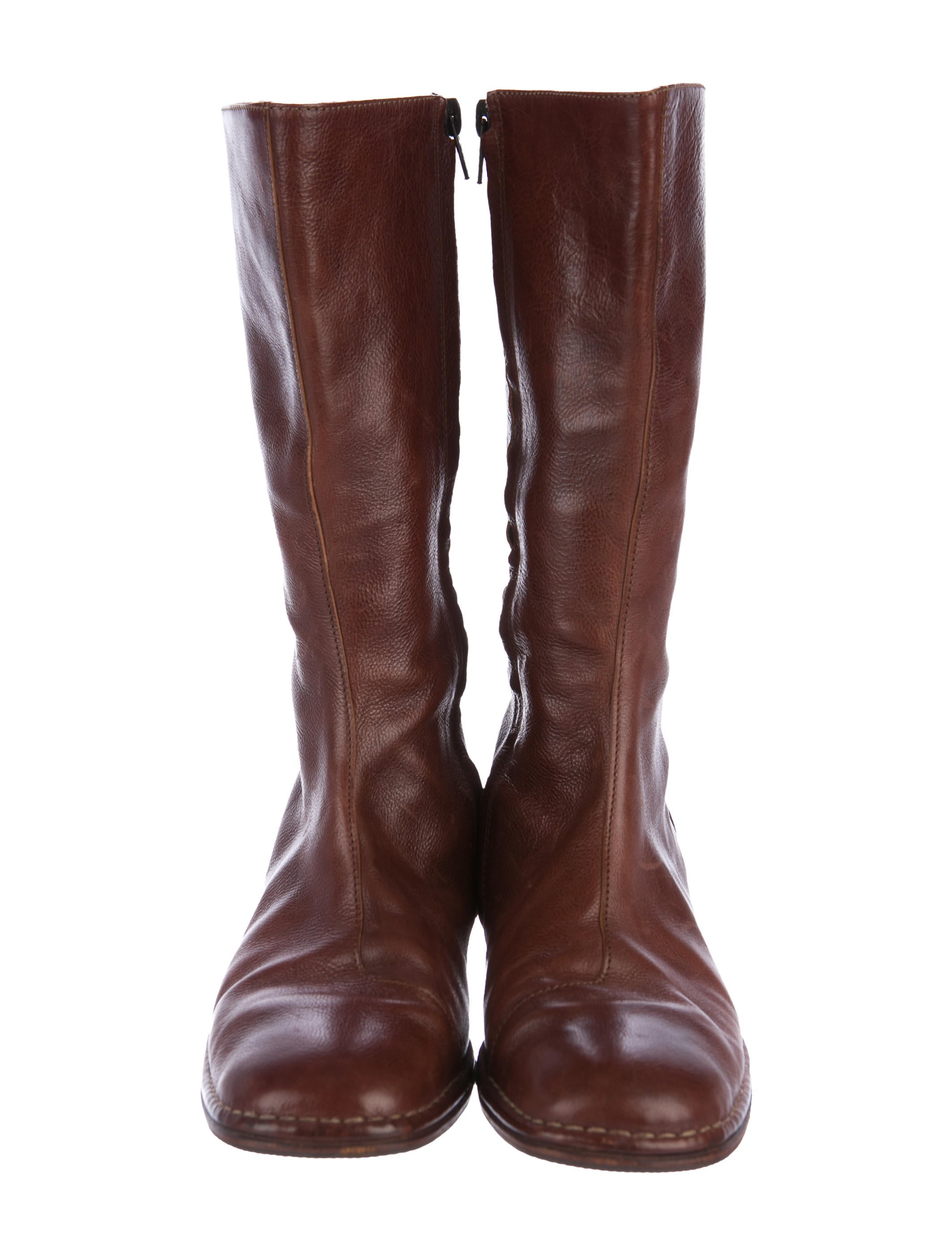 henry beguelin leather mid calf boots shoes hen22004