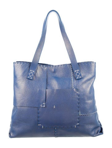Henry Beguelin Grained Leather Tote None