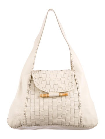 Henry Beguelin Woven Leather Hobo None