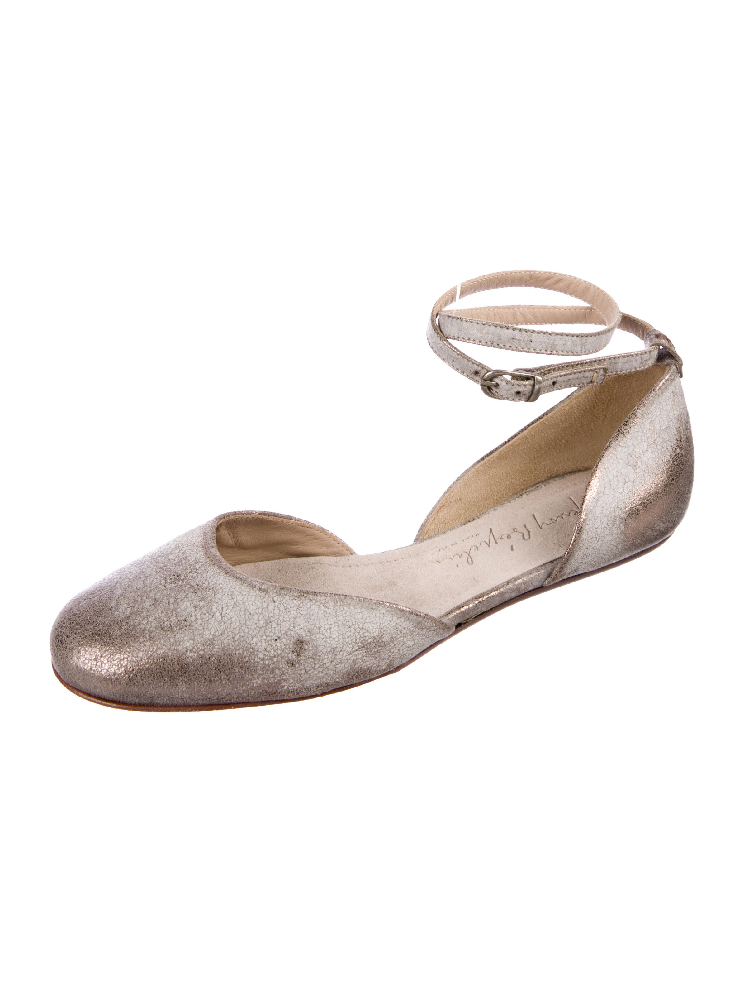 clearance latest Henry Beguelin Leather Round-Toe Flats exclusive online JqPMx