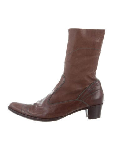 Henry Beguelin Leather Ankle Boots None