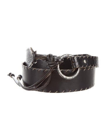 Henry Beguelin Wide Leather Belt None
