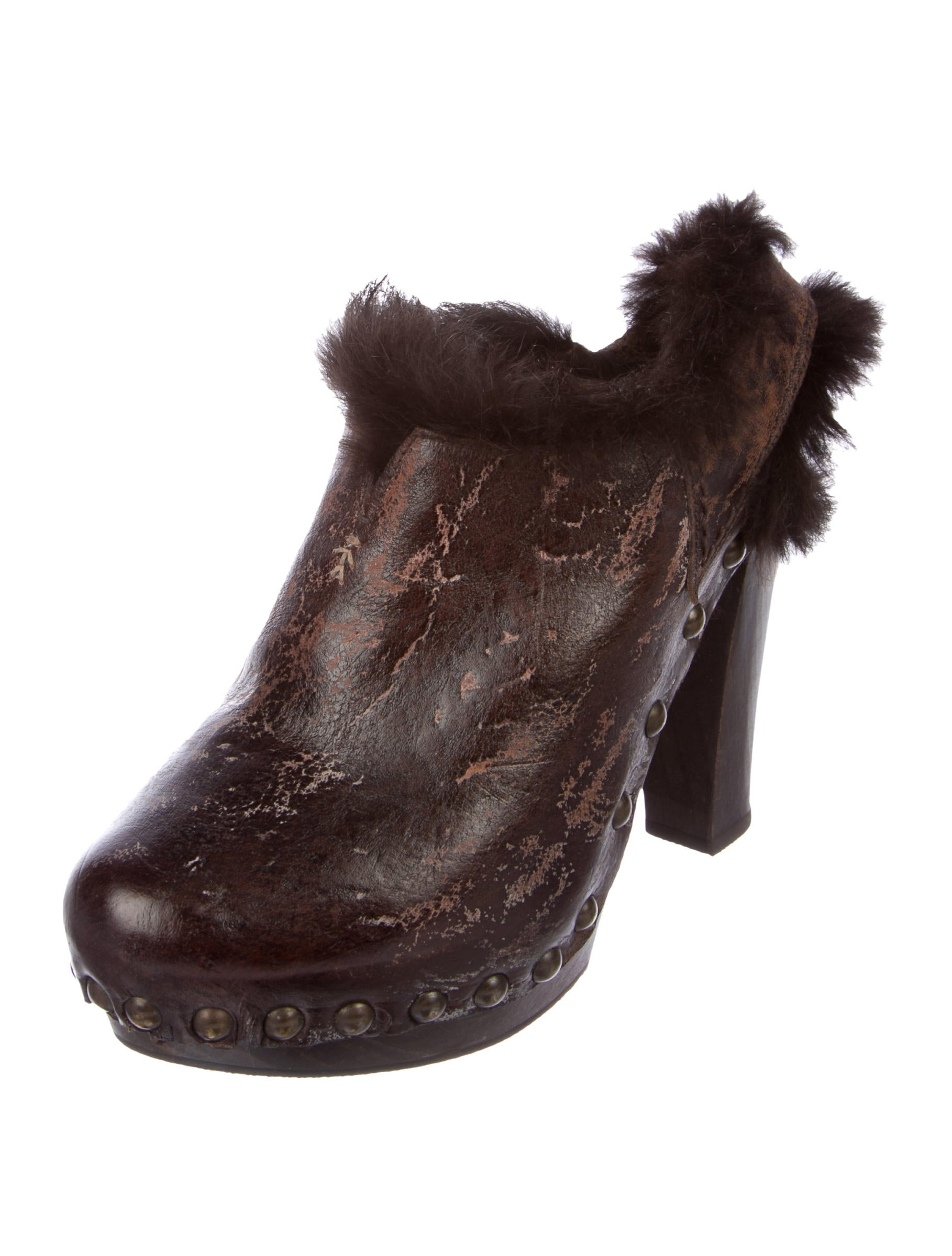 Henry Beguelin Fur-Trimmed Leather Booties discount authentic online best store to get for sale tumblr online clearance collections very cheap for sale IQOsXGWeV