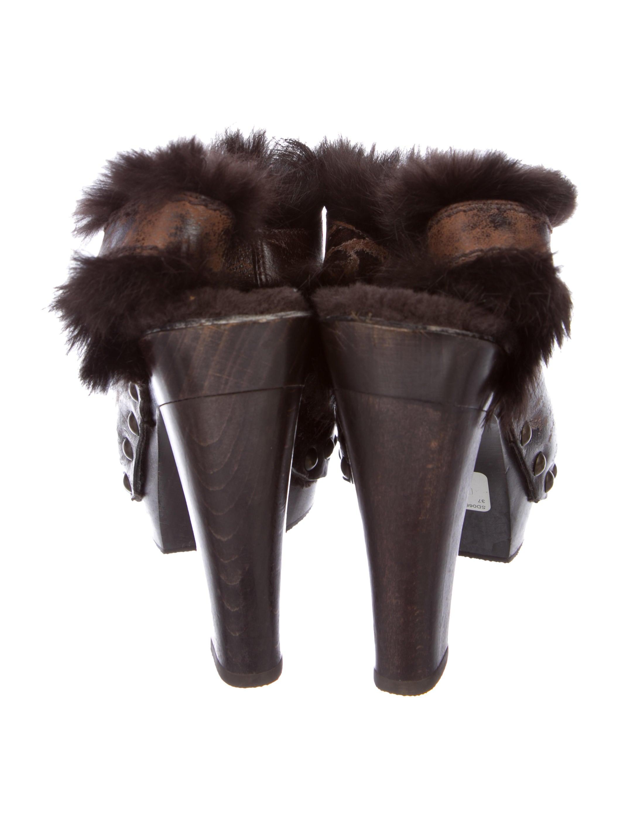 outlet websites marketable Henry Beguelin Fur-Trimmed Leather Booties wzKdaWjC98