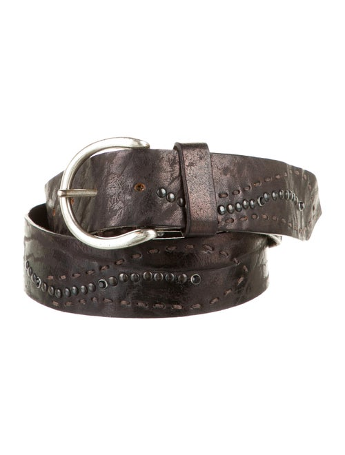 Henry Beguelin Leather Hip Belt Brown