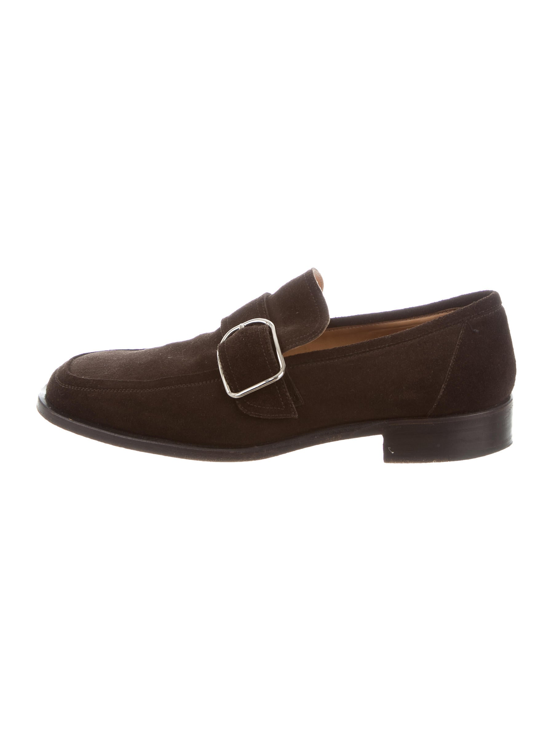 Hermu00e8s Suede Buckle Loafers - Shoes - HER100022 | The RealReal