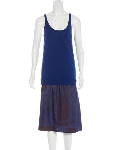 Hermès Clic Clac & Quadrige Dip-Dye Dress None