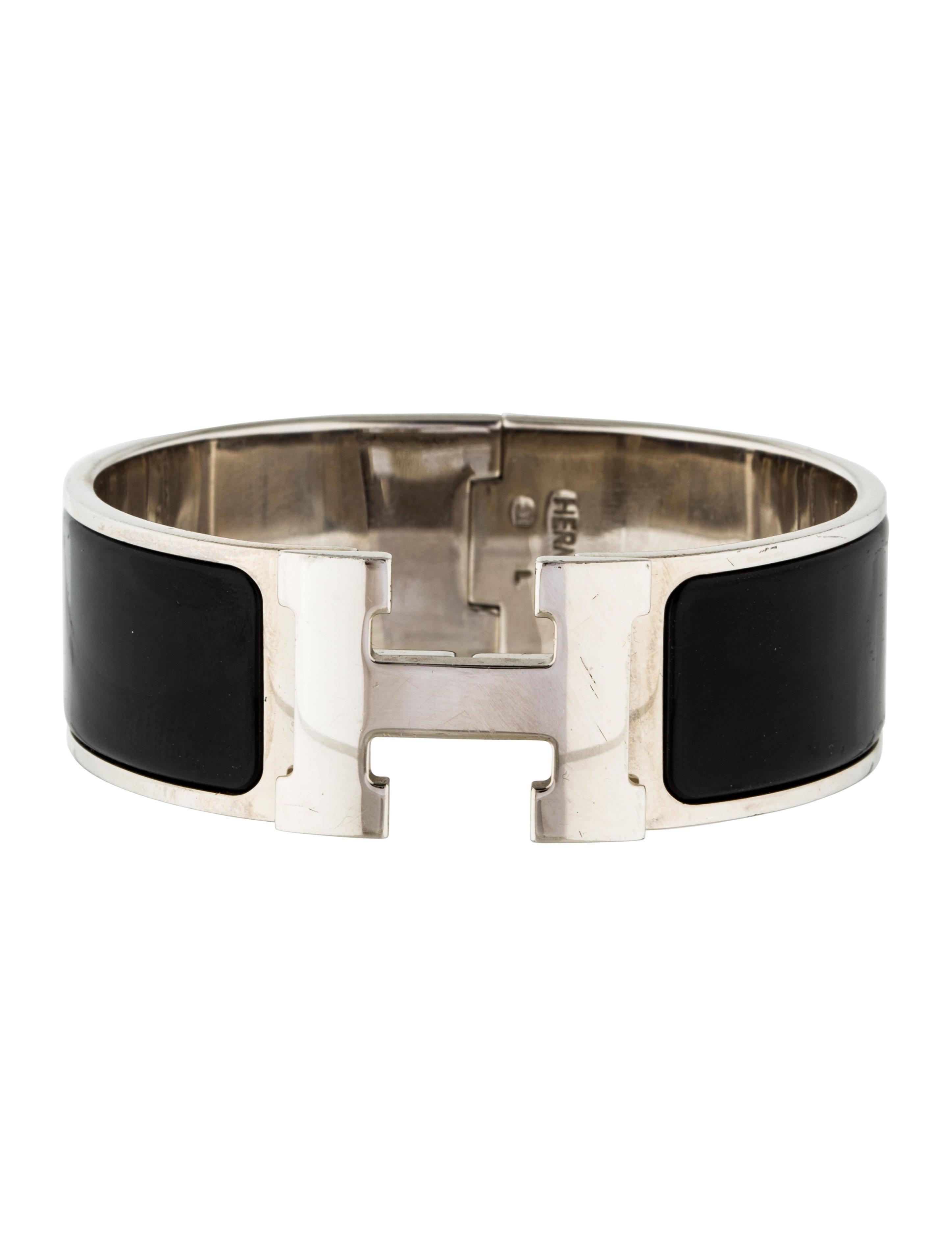 herm s wide clic clac h bracelet bracelets her102228. Black Bedroom Furniture Sets. Home Design Ideas