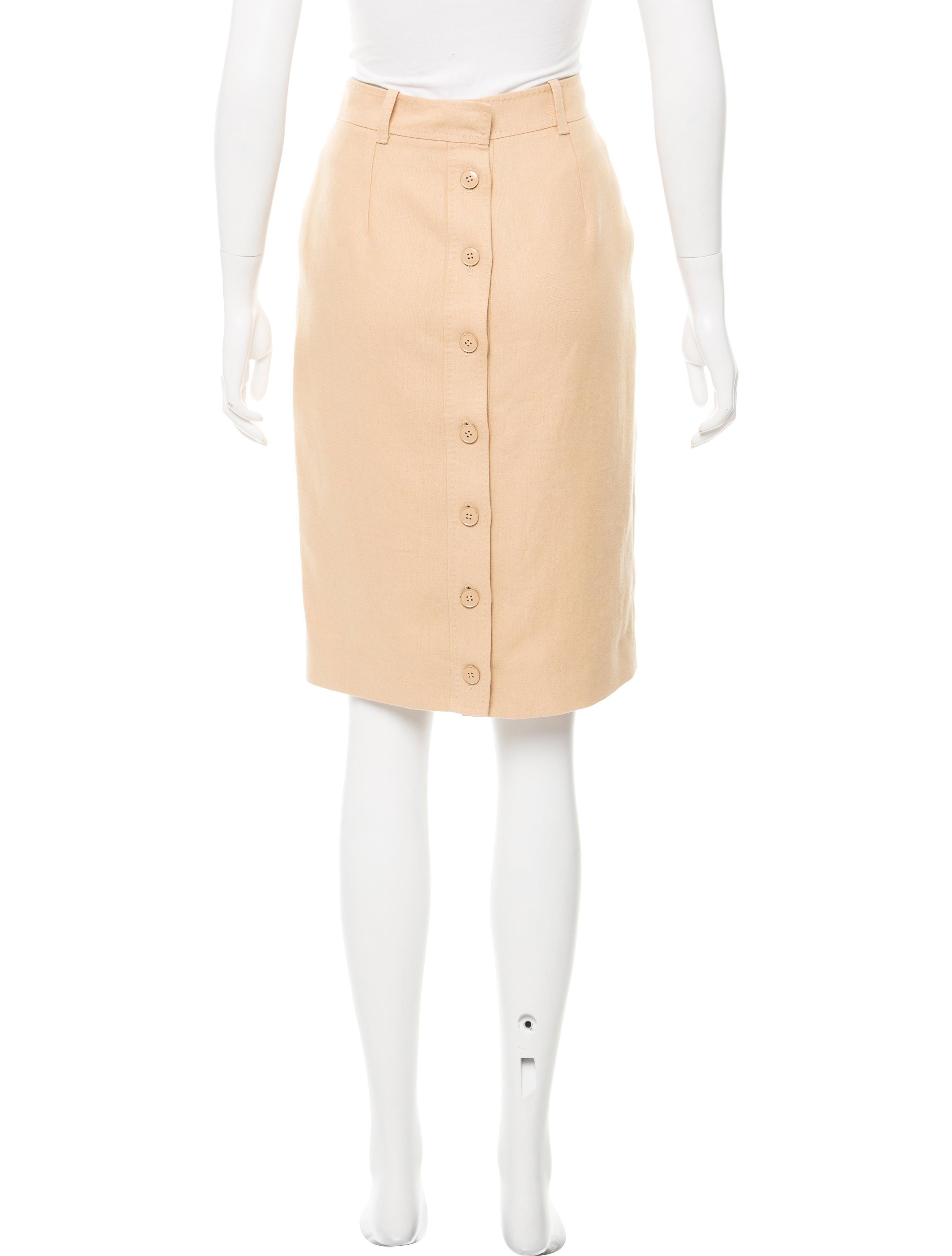 herm 232 s linen knee length skirt clothing her102724