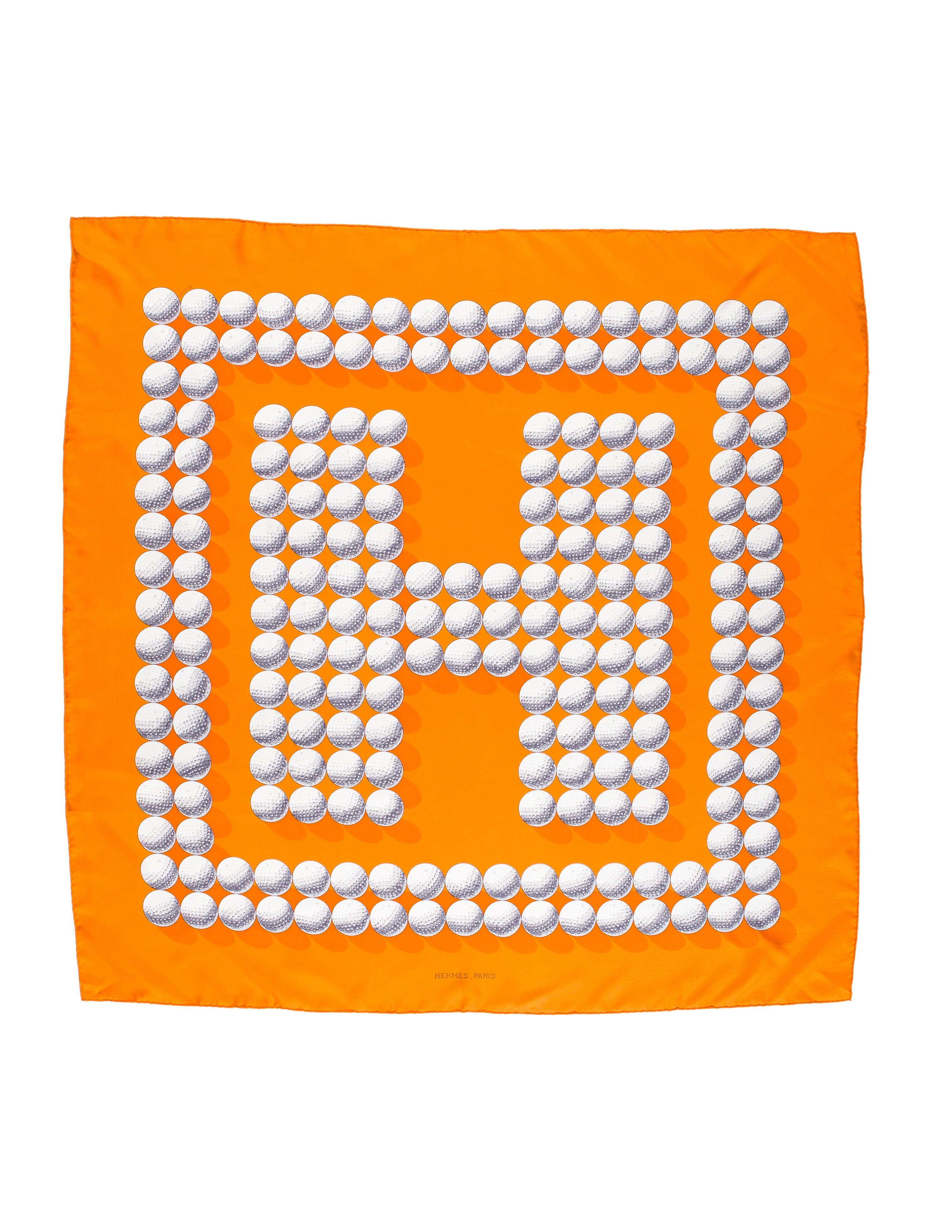 herm s balles de golf ii silk scarf accessories. Black Bedroom Furniture Sets. Home Design Ideas