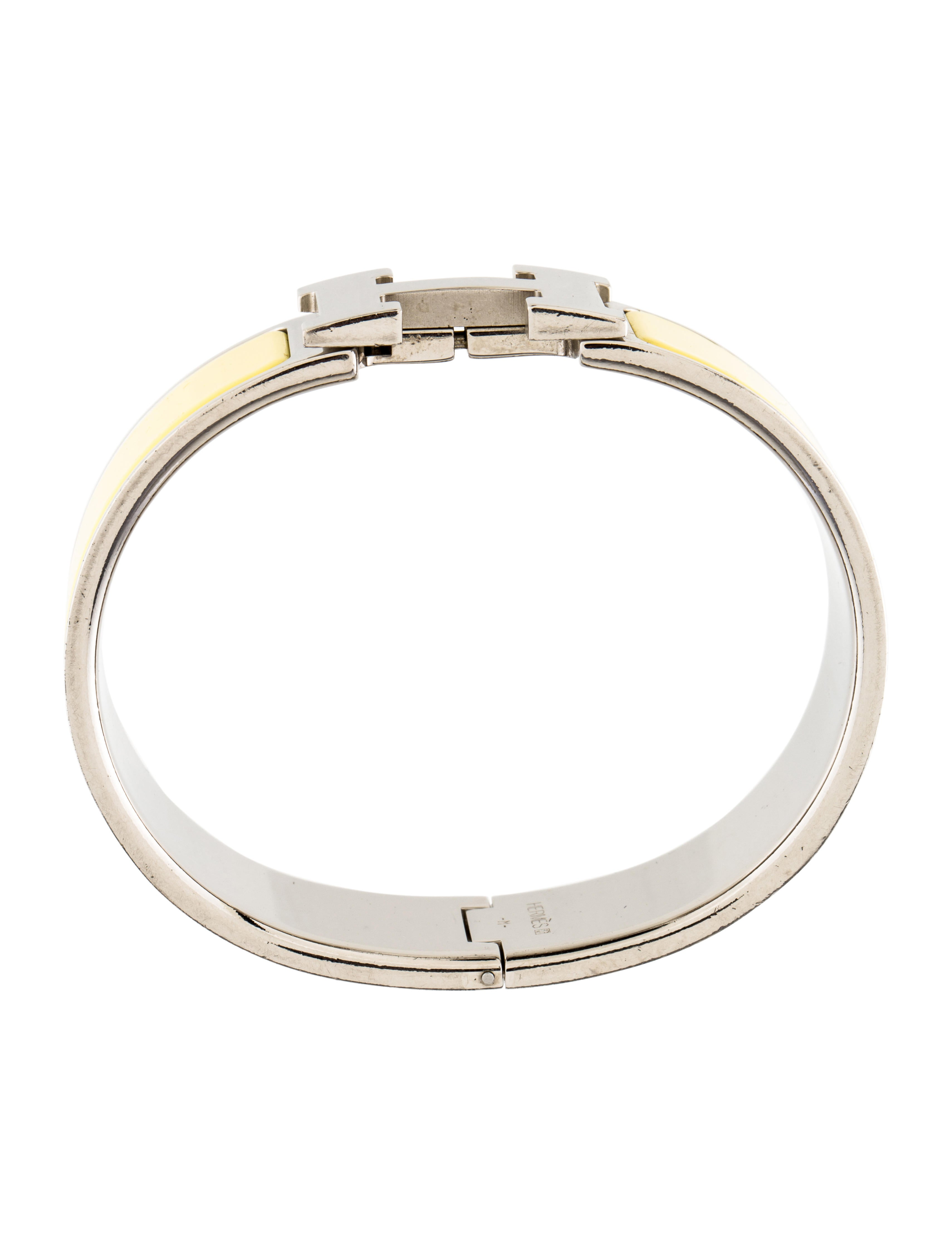 herm 232 s wide clic clac h bangle bracelets her103072 the realreal