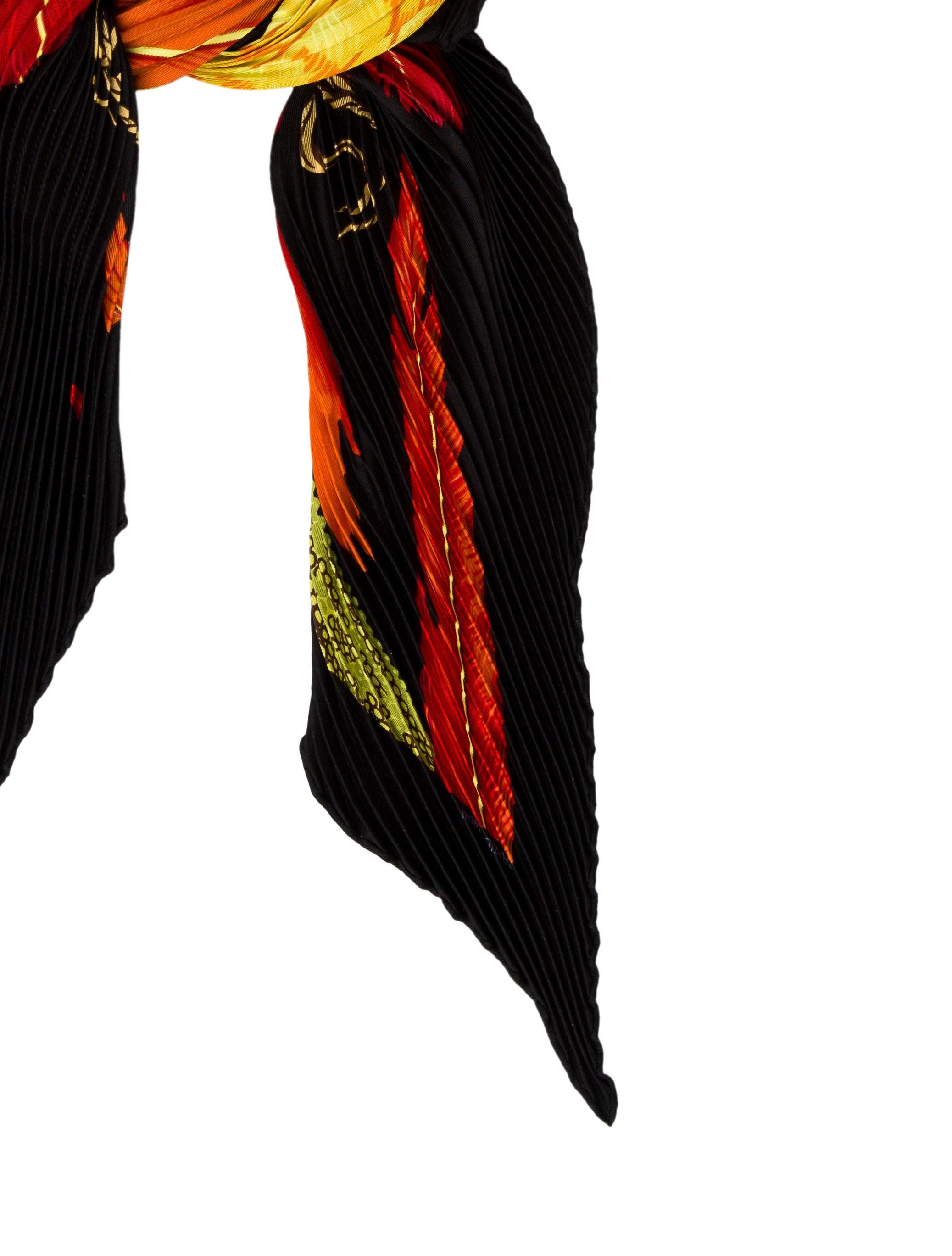 herm 232 s brazil detail silk pliss 233 scarf accessories