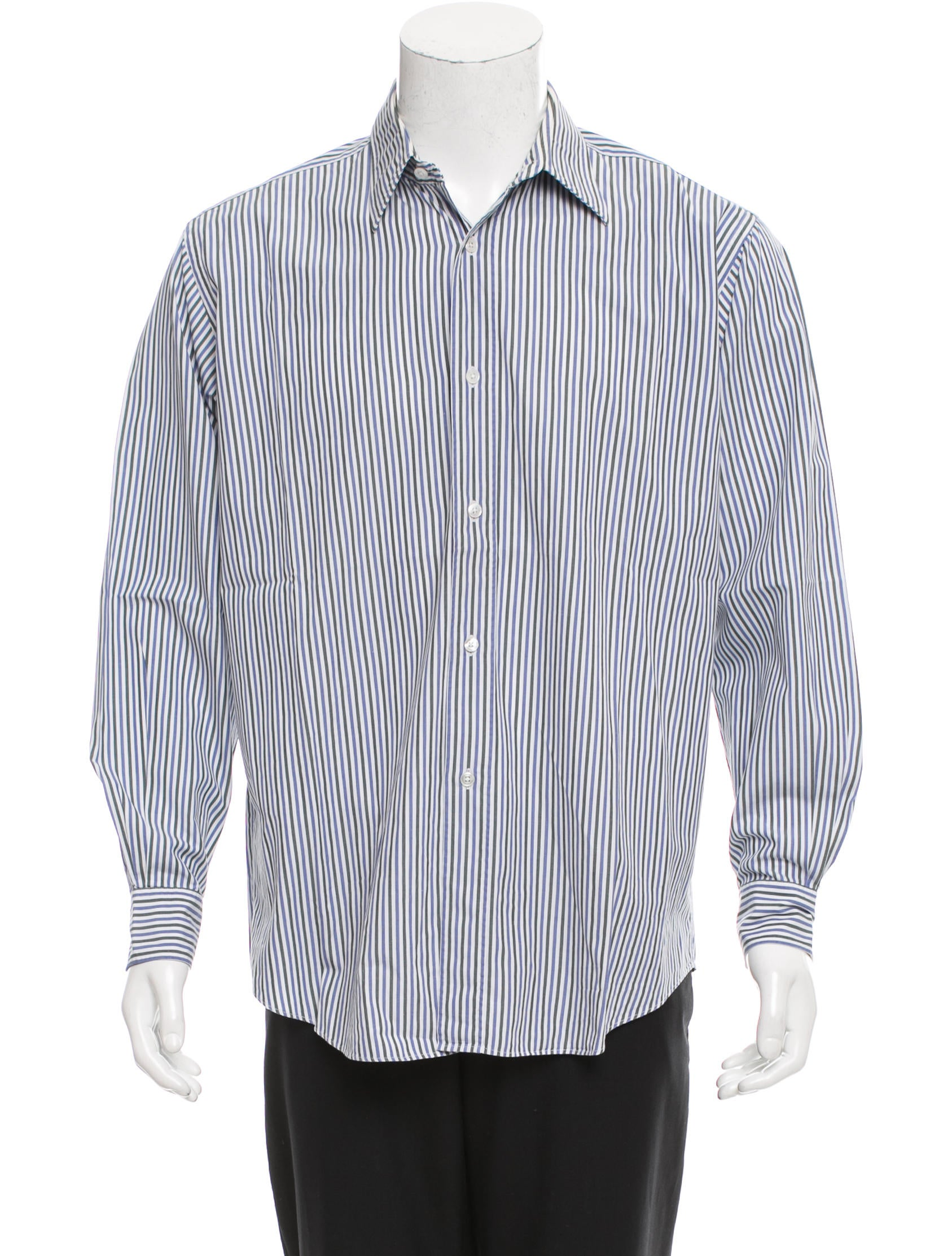 Herm s striped button up shirt clothing her103379 for Striped button up shirt mens