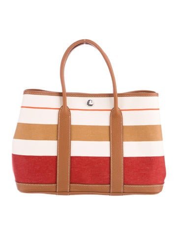 Hermès Striped Canvas Garden Party PM None