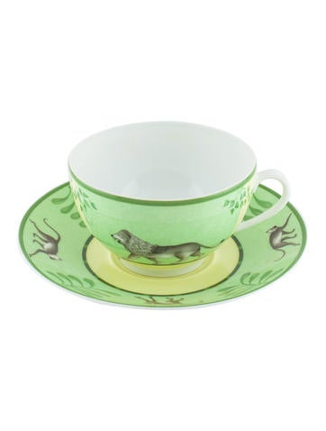 Hermès Africa Porcelain Tea cup and Saucer None