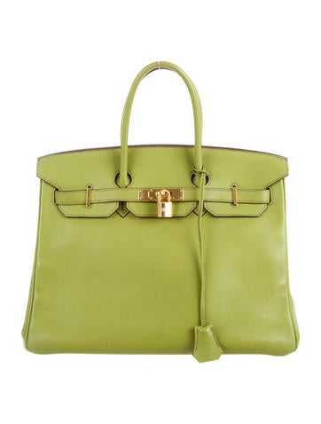 Birkin bag 35 light green