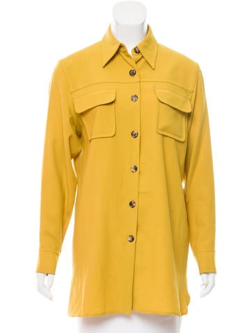Hermès Wool Button-Up Top None