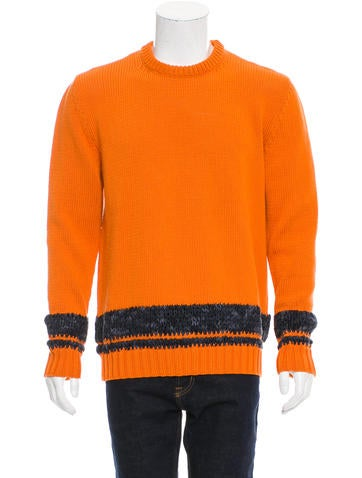 Hermès Striped Rib Knit Sweater None