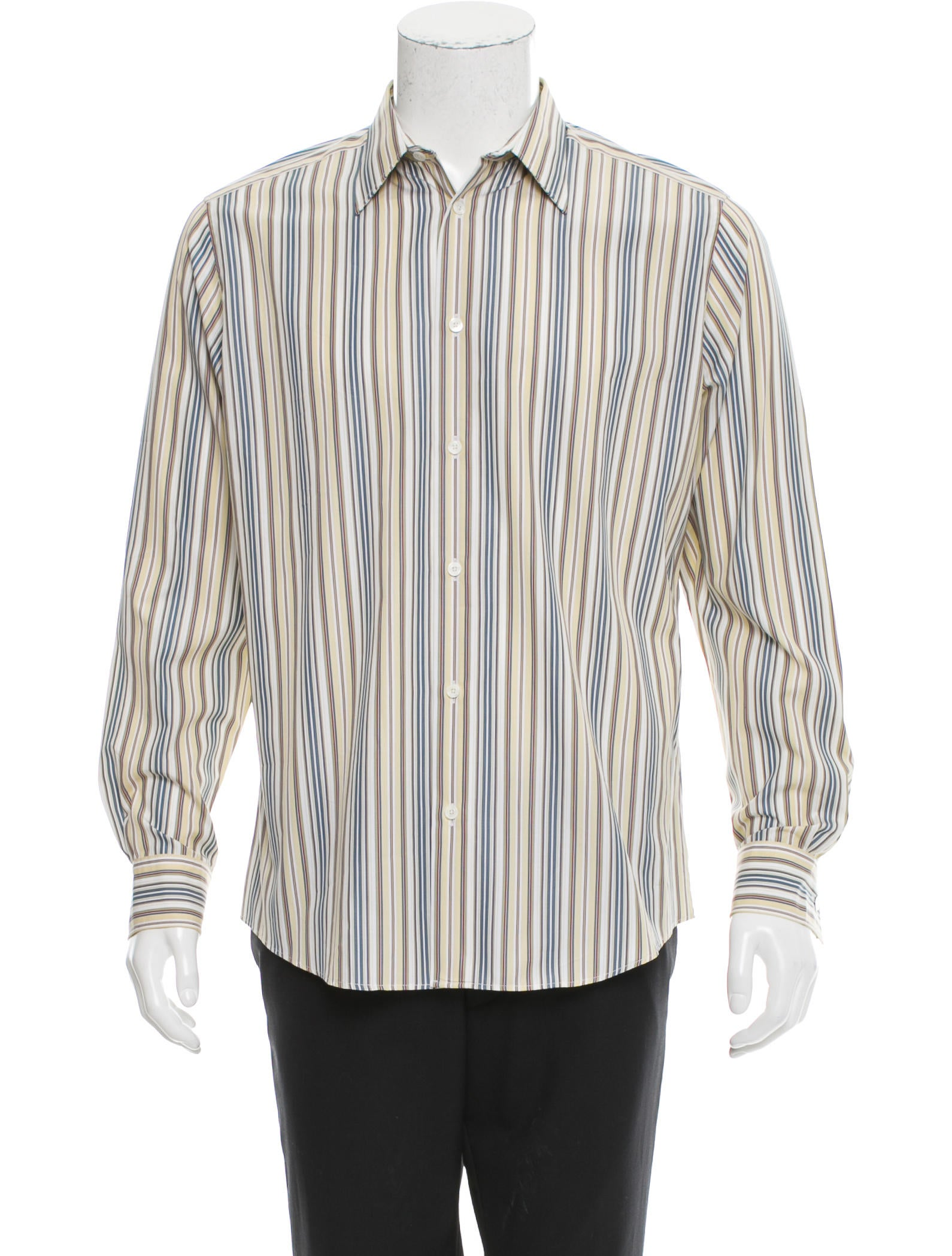 Herm s striped button up shirt clothing her104843 for Striped button up shirt mens