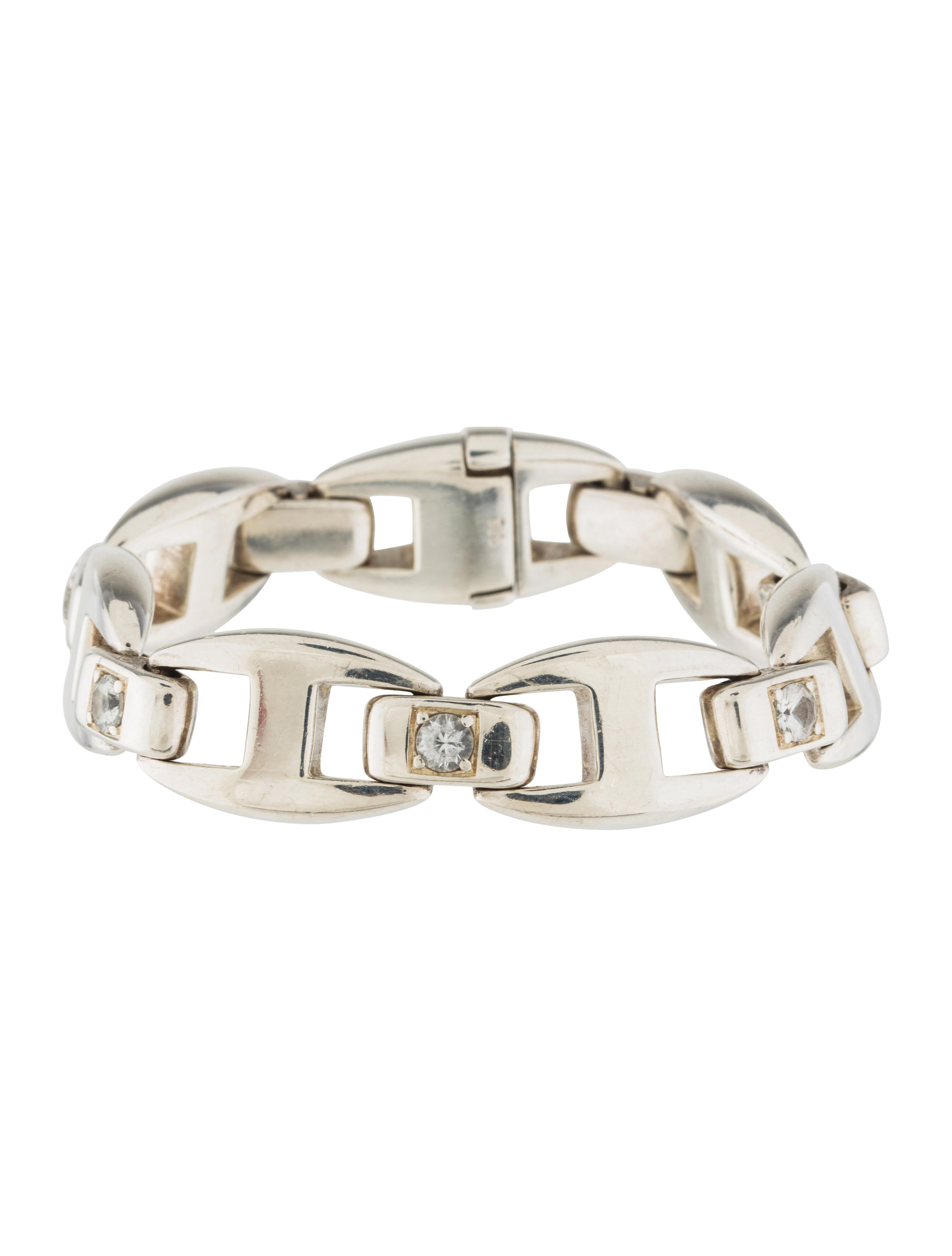 herm 232 s white sapphire cassiopee bracelet bracelets