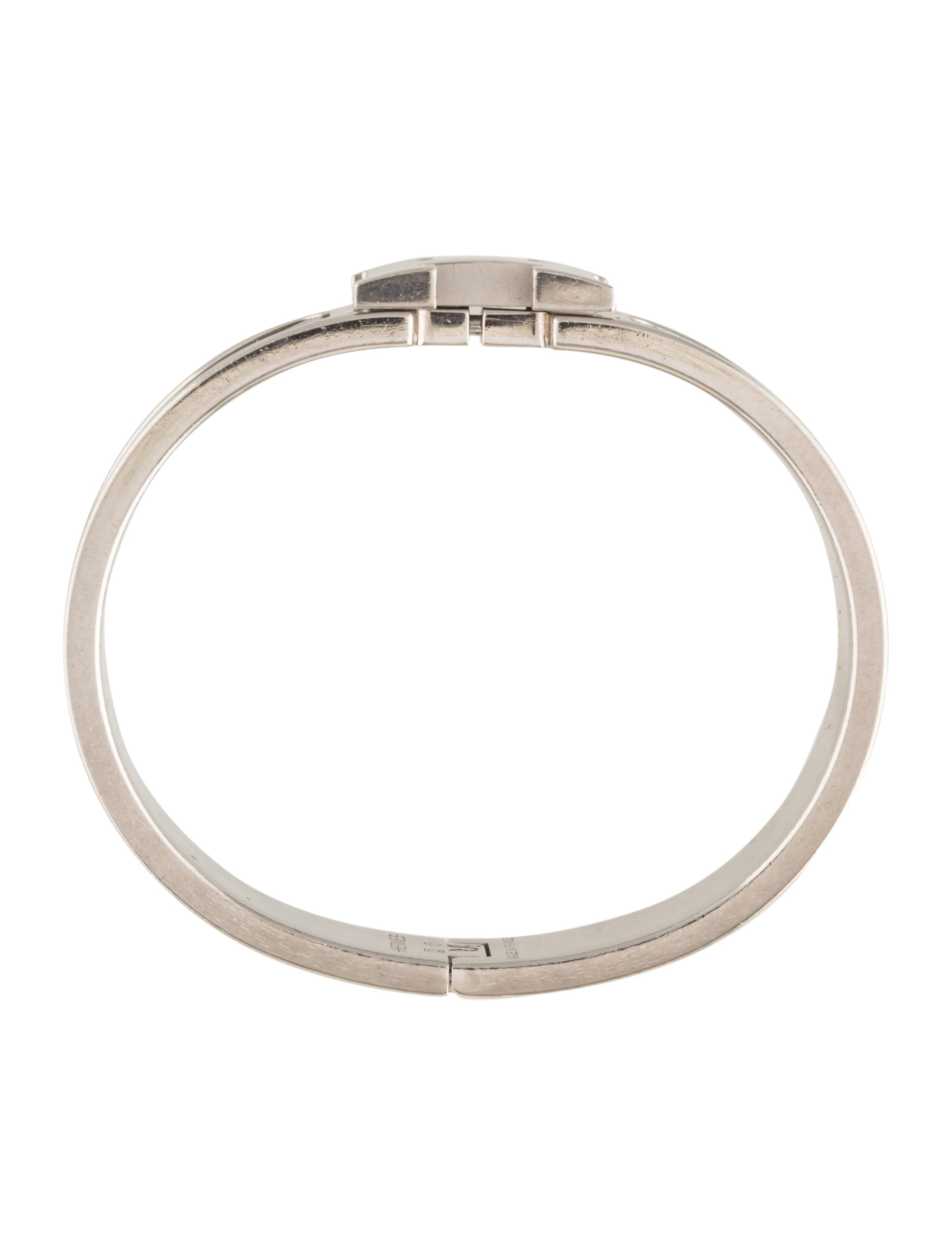 herm s pm narrow clic clac h bangle bracelets. Black Bedroom Furniture Sets. Home Design Ideas