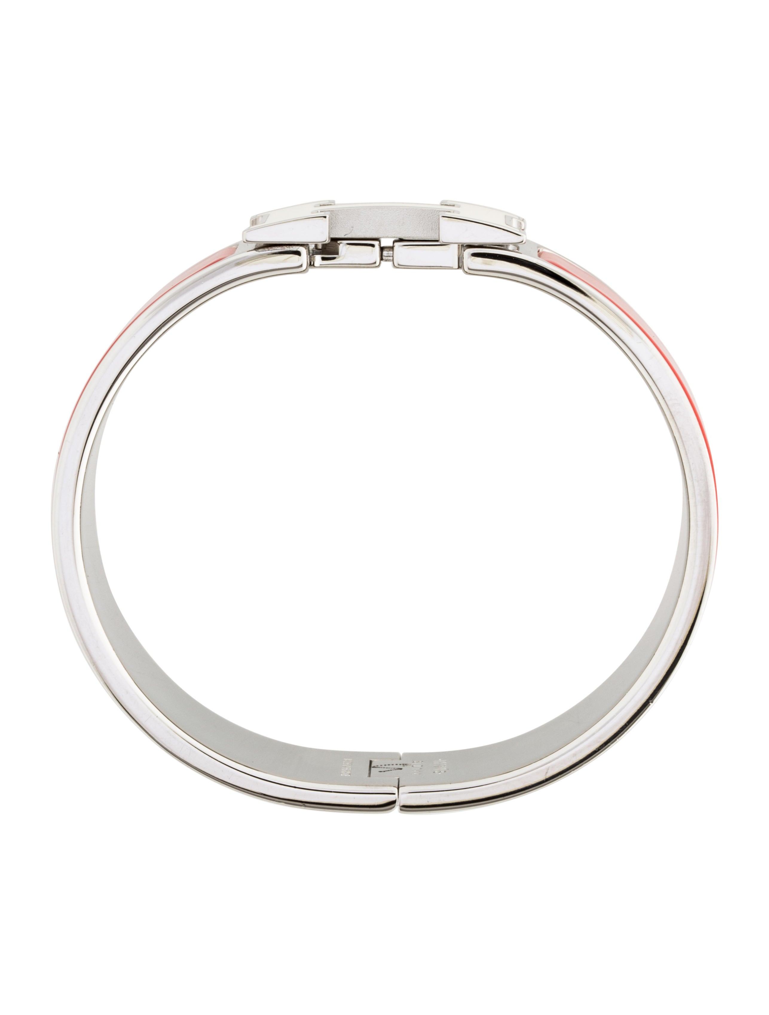 herm s wide clic clac h bracelet bracelets her106116. Black Bedroom Furniture Sets. Home Design Ideas