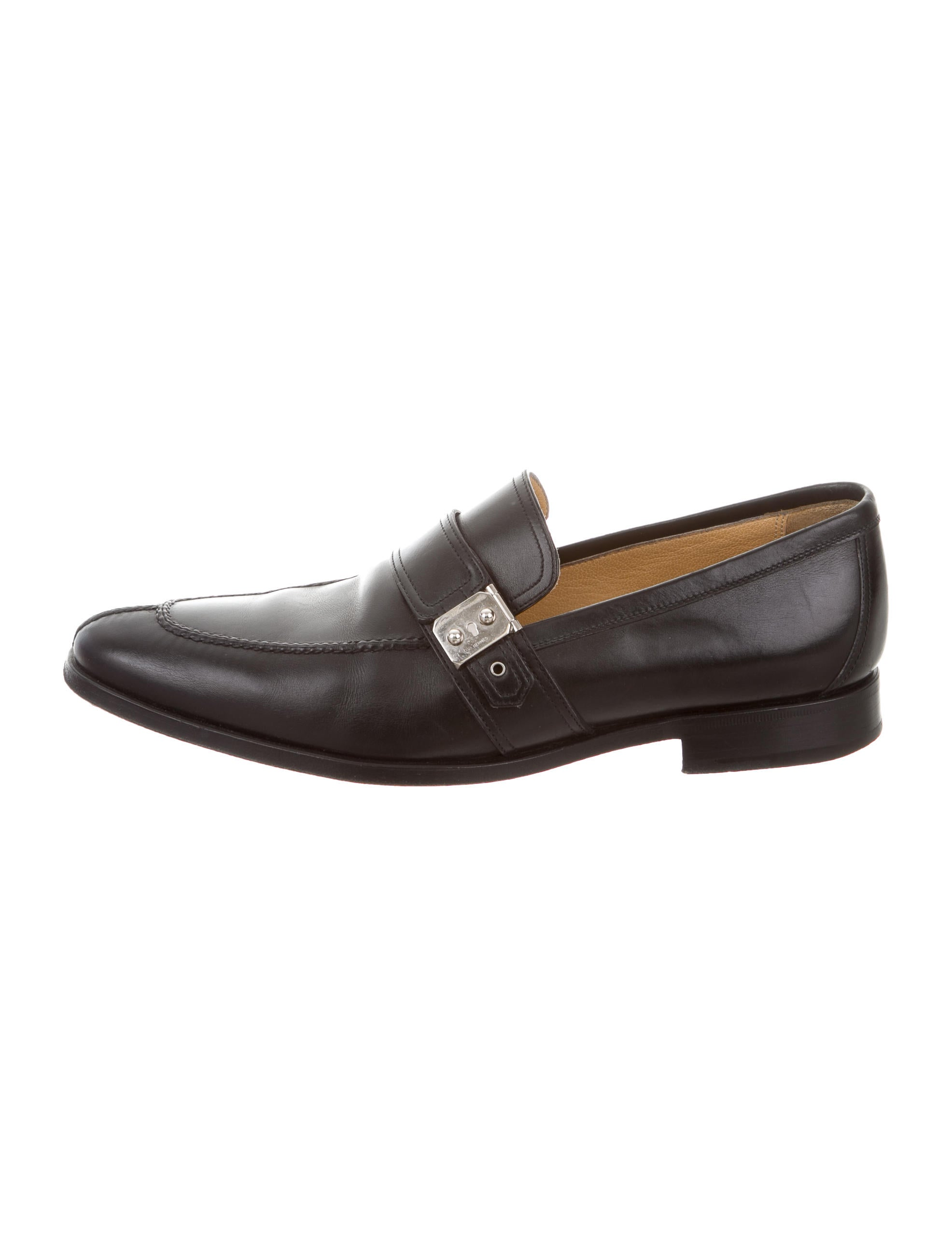 Hermès Logo Round-Toe Loafers clearance order pay with paypal for sale clearance best sale under $60 best place to buy online iv6ec09lm